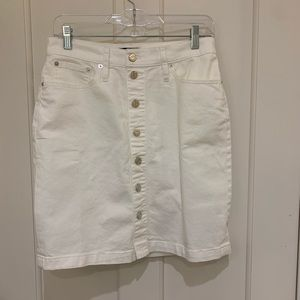 J. Crew Women's Button Front Denim Skirt